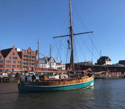 Klassiek schip in Lubeck