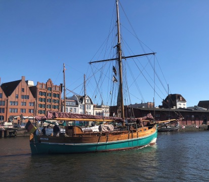 Klassiek schip in Lubeck