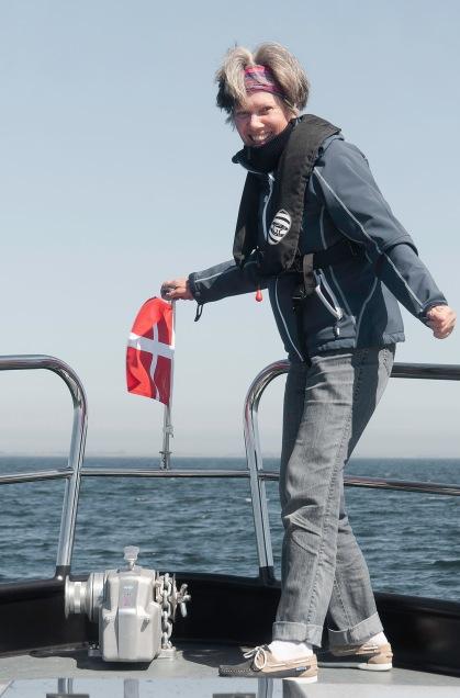 Ria met Deense vlag