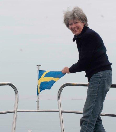 Ria plaatst Zweedse vlag