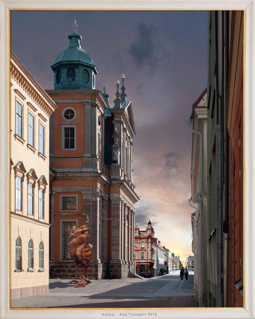 Stadsgezicht Kalmar Zweden